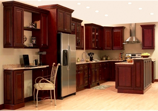 Clearance Sale Maple Cherry Kitchen And Vanity Cabinet