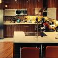 Red Ebony Flat Panel Cabinet