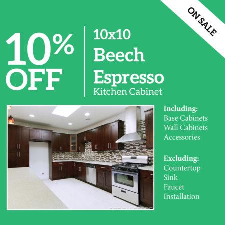 Beech Espresso Kitchen Cabinet