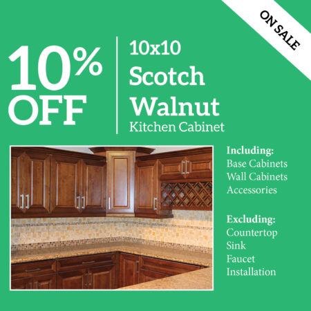 Scotch Walnut Kitchen Cabinet