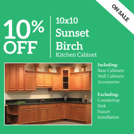 Sunset Birch Kitchen Cabinet