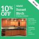 Sunset Birch Kitchen Cabinet