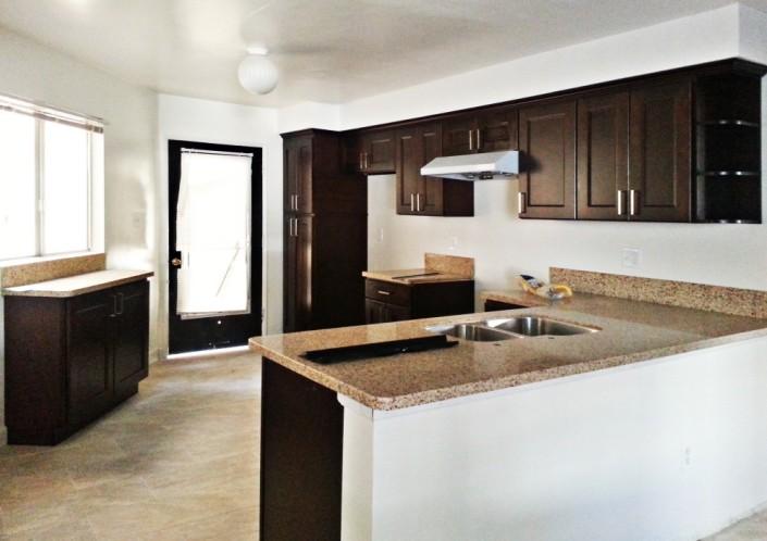 California Espresso Kitchen Cabinet