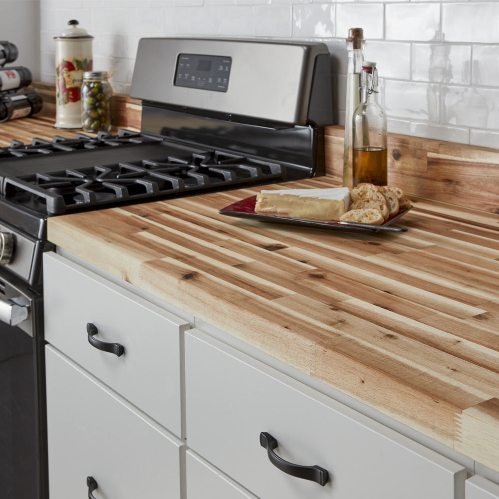 Best Wood For Butcher Block Counters: Acacia Wood Butcher Block Countertop