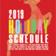 2019 Greencastle Cabinetry Holiday Schedule