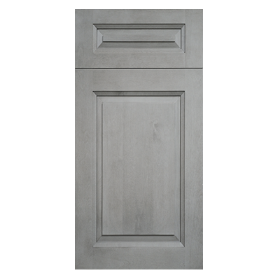 Rustic Gray Raised Panel Kitchen and Bath Cabinet