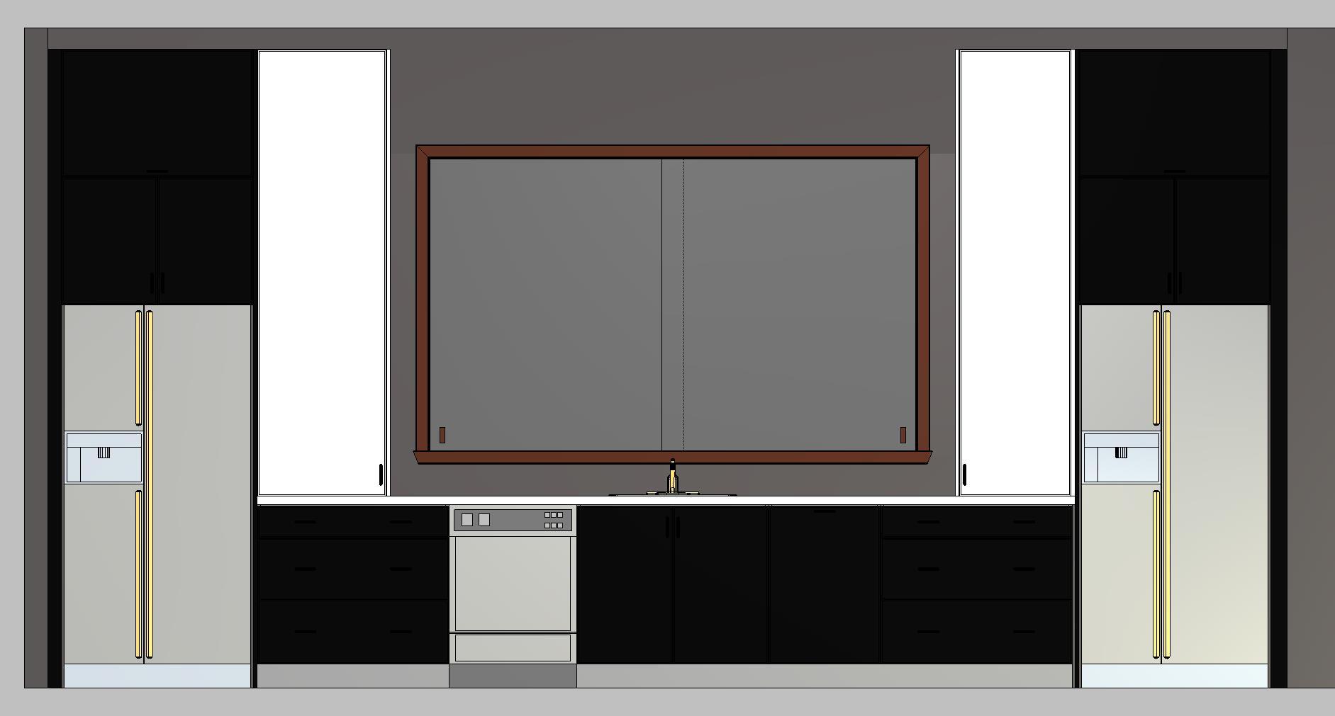 Black Matte Cabinet